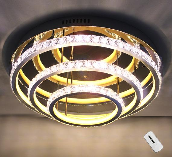HA425 KOLUMB Kristall Deckenlampe Ø50 cm x 18cm(H) 3000K / 4000K