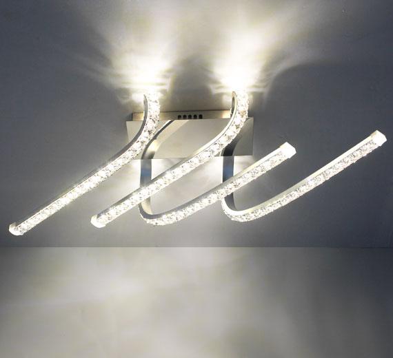 HA930 VISTO Led  Kristall Deckenleuchte Wandleuchte 60 x 22 x 14 cm