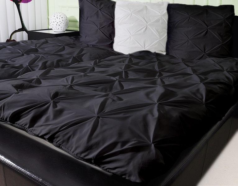 3-tlg 3D Bettwäsche Garnitur, Modell : NODES, Farbe: BLACK , 155*220cm