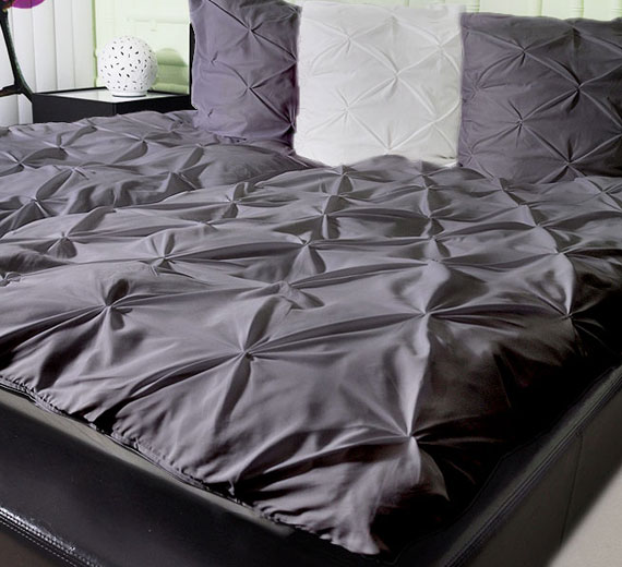 3d biesen bettw sche garnitur mikrofaser 135x200 2 rei verschluss grau ebay. Black Bedroom Furniture Sets. Home Design Ideas