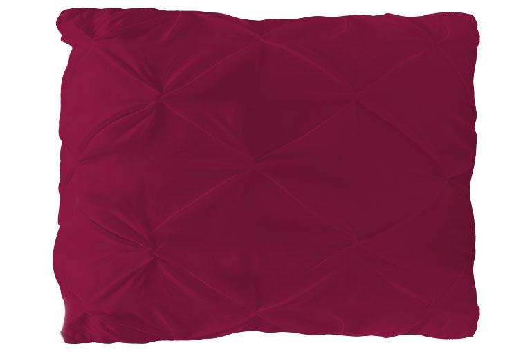 Kissenbezug, Modell : NODES, Farbe: BORDEAUX , 80*80cm