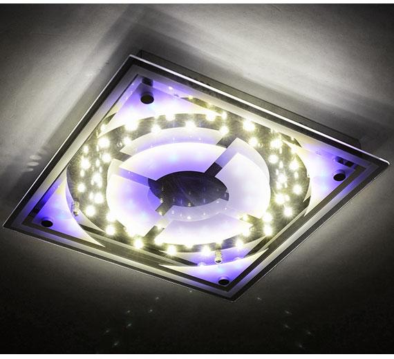 HA331 (HA837) BAMONA  LED  Deckenleuchte Farbwechsel Fernbedienung 35 x 35 cm