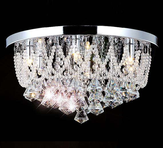 HA411  NAIDA-L LED Kristall Kronleuchter / Deckenleuchte  Ø 45cm