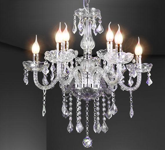 HA429 Aurolina Design Glas Kristall Kronleuchter 56 x 56 x 80 cm