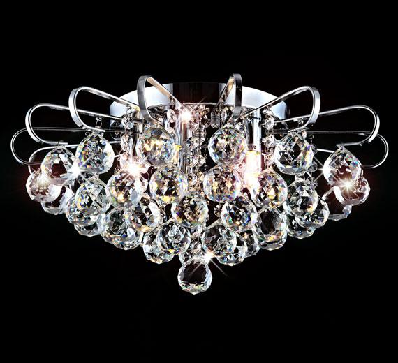 HA430 LAMERA Kristall LED Kronleuchter / Deckenleuchte Deckenlampe Ø 45cm