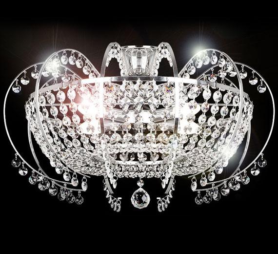 HA561-5  Klassischer Sharleen-XL Kristall Kronleuchter 58*40cm 10 Arm