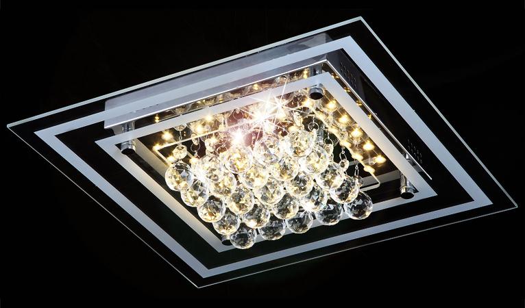 24w led kristall deckenleuchte leuchte deckenlampe lampe deckenlicht beleuchtung. Black Bedroom Furniture Sets. Home Design Ideas