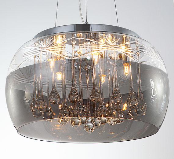 HA635 Faron-XL Kristall LED Kronleuchter / Hängeleuchte  Ø40cm