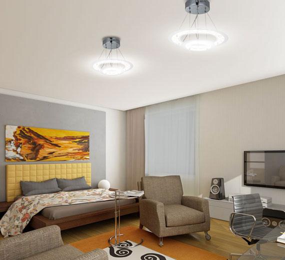led deckenleuchte deckenlampe leuchte lampe beleuchtung wohnzimmer h ngeleuchte ebay. Black Bedroom Furniture Sets. Home Design Ideas