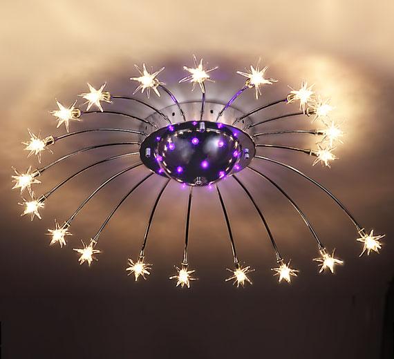 HA810  ASTRUS Farbwechsel Sterne LED Deckenleuchte  Ø81cm