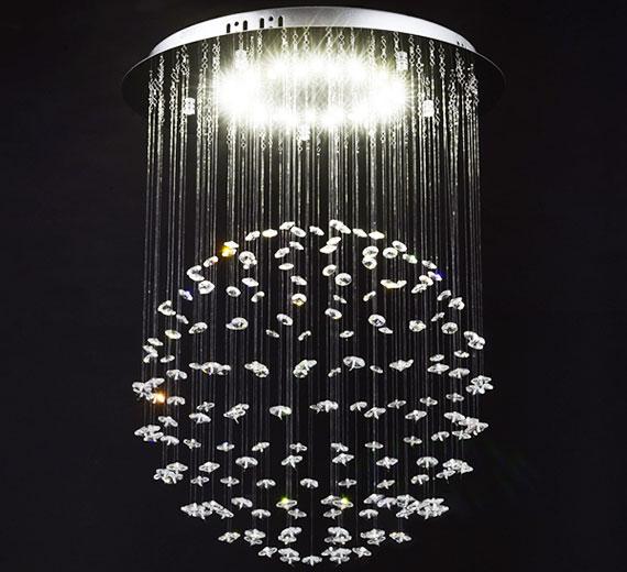 HA813 VENICE 15W  LED Kristall Deckenleuchte, Ø40 x 50(H) cm