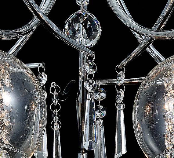 54 aktuell design glas kristall kronleuchter deckenleuchte l ster leuchte lampe. Black Bedroom Furniture Sets. Home Design Ideas