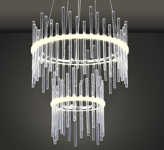HA830 Alastar Led Design Glas Deckenleuchte Hängeleuchte 39cm 22W