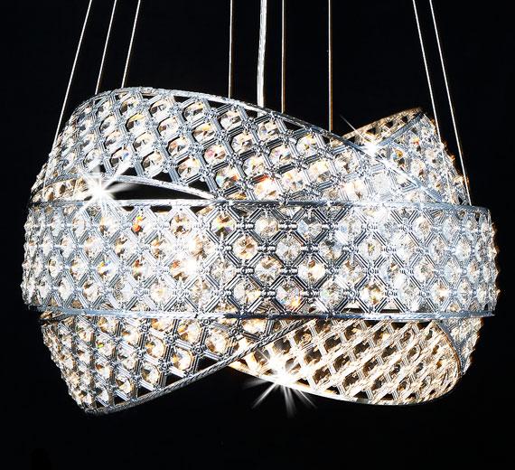 HA835 Orbius Design Kristall  Hängeleuchte Ø50cm
