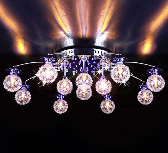 HA851-12  MAXIMUS Farbwechsel LED Deckenleuchte  Ø89cm