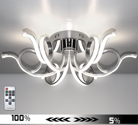 HA921 MERWA [4000K Neutralweiß] 62cm LED Deckenlampe Dimmbar + Fernbedienung