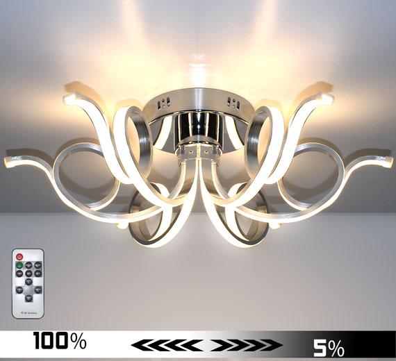 HA921 MERWA [3000K Warmweiß] 62cm LED Deckenlampe Dimmbar + Fernbedienung