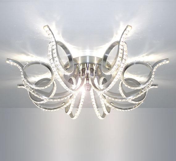 HA931 RADON  LED Kristall 81*81 cm  Deckenlampe