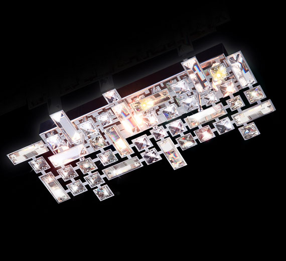 HA343  Derant  Kristall Wand,- Deckenleuchte 425*200mm