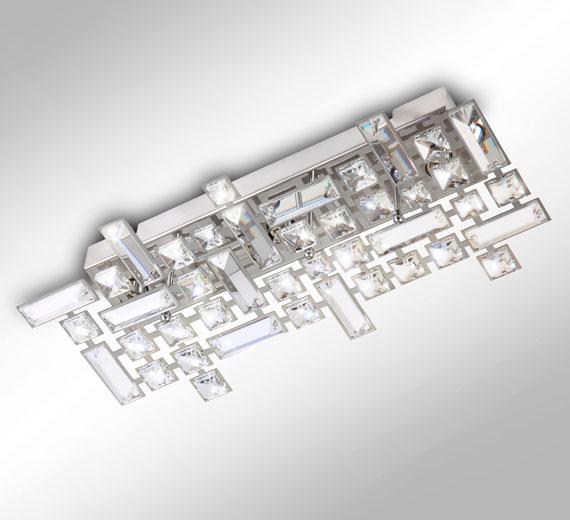 42 5cm kristall wandleuchte deckenleuchte bad lampe design. Black Bedroom Furniture Sets. Home Design Ideas