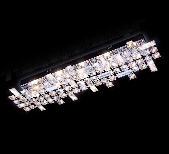 HA345 Torgent Kristall Wand,- Deckenleuchte 688*206mm