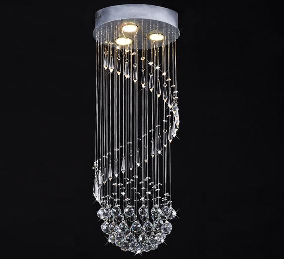 HA889 IDERUM Kristall Hängeleuchte 30x80cm