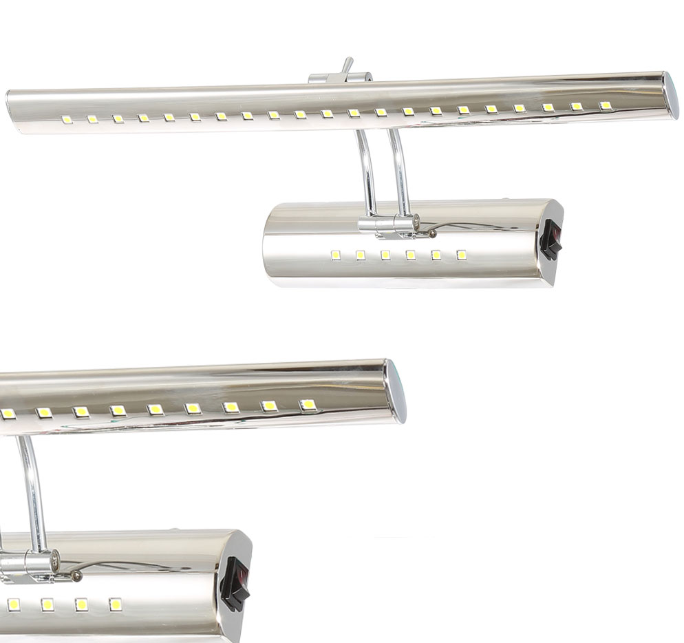 LWBC128 Serie  LED 5-9W Schwenkkopf Spiegelleuchte Wandleuchte 400-700mm
