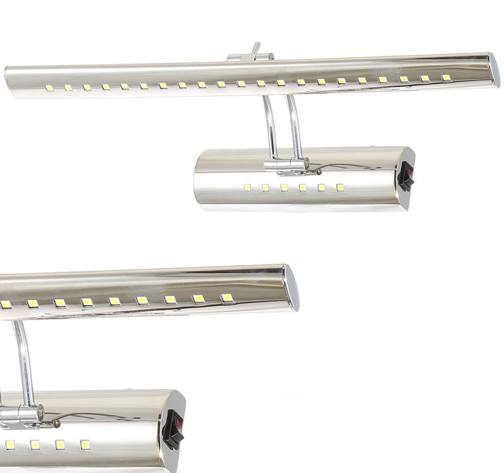 LWBC128 Serie  LED 5-9W Schwenkkopf Spiegelleuchte Wandleuchte 400-700mm