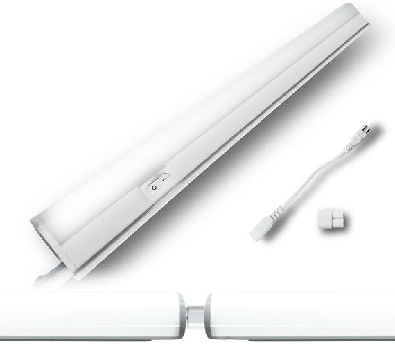 LED 7-21W Rundkopf Unterbauleuchte 345mm-1205mm Eckleuchte Lichtleiste