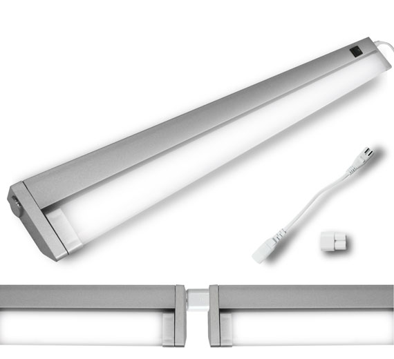 LED 7-15W Schwenkkopf Unterbauleuchte 336mm-895mm Eckleuchte Lichtleiste