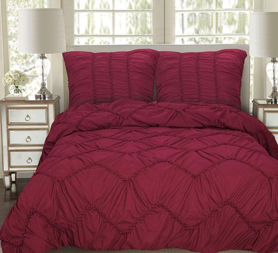 Serie Bettüberwurf Modell BISA: 3TLG, 4 Farben 240x260