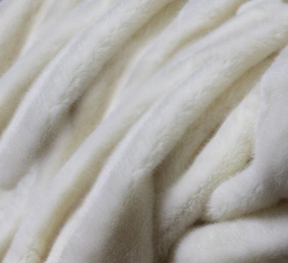 Fellimitat Pelz-Bettüberwurf / Tagesdecke  Rabbit 150x200cm
