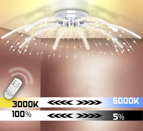HA188 ABANDON XXL Design Kristall Led Deckenleuchte Ø88cm