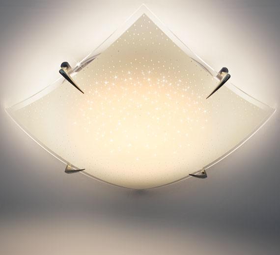 HA322 Solena LED Deckenleuchte Sternenhimmel Effekt 30cm 12W Warmweiß