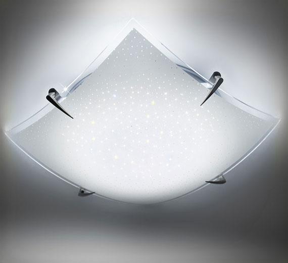 HA324  ALONA  LED Deckenleuchte Sternenhimmel Effekt 30cm 24W Kaltweiß