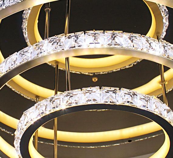 XL Deckenlampe Kristall Led Kronleuchter Wohnzimmer Licht