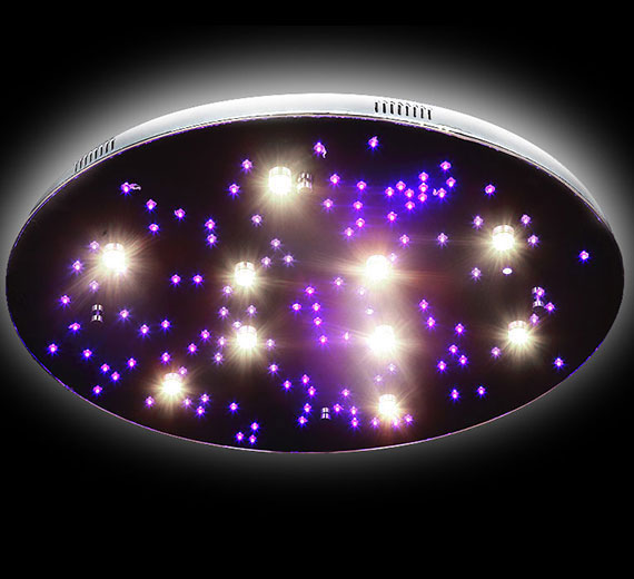 HA843 Stars-XXL Ø80cm Sternenhimmel LED Deckenleuchte m. Fernbedienung