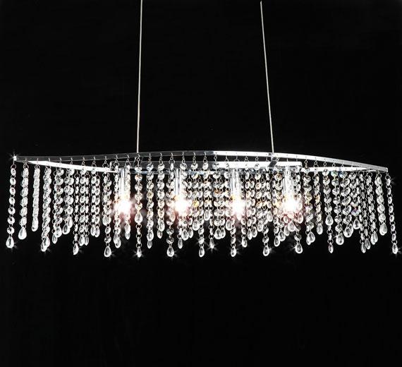 HA911 Arsamas Design Glas Kristall Hängelampe 11x80 x100cm 4xG9