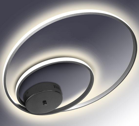 HA920 AERTON [4000K Neutralweiß] 50cm LED Deckenlampe verflochtenen Ringen 32W