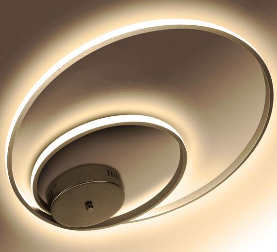 HA920 AERTON [3000K Warmweiß] 50cm LED Deckenlampe verflochtenen Ringen 32W