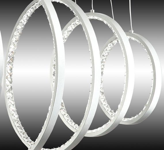 led h ngelampe deckenlampe deckenleuchte decken pendel lampe ringe licht 70cm ebay. Black Bedroom Furniture Sets. Home Design Ideas