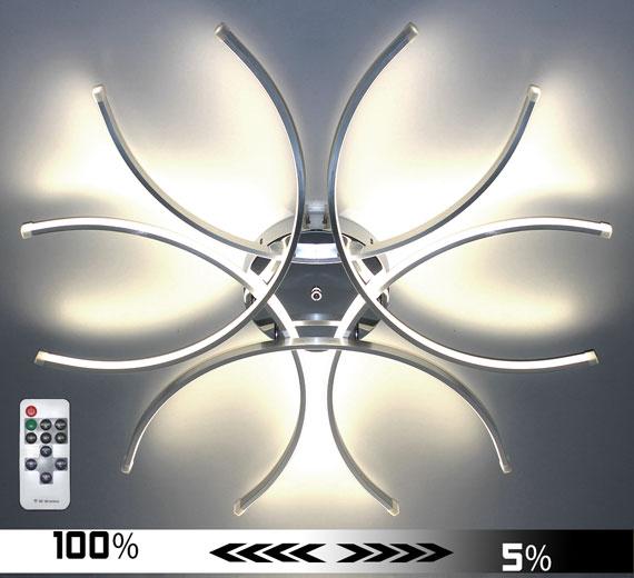 HA927 Cornus [4000K Neutralweiß] Led Deckenleuchte Ø80cm Dimmbar + FB