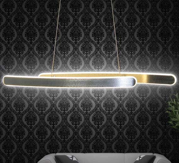 HA951 UNIVERA Decken-Hänge-Lampe 85cm x max 1000cm(H)