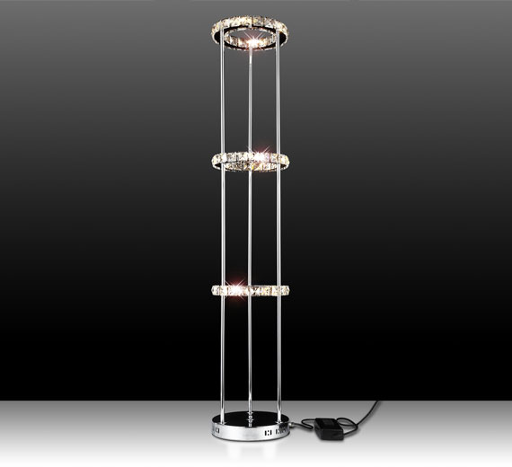 Led kristall stehleuchte standlampe stehlampe standleuchte for Stehlampe kristall