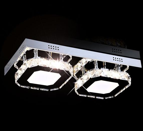 Led kristall deckenleuchte leuchte deckenlampe for Led deckenlicht