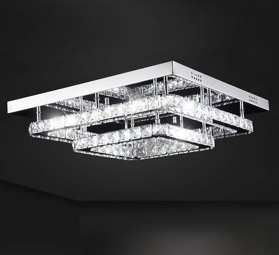 HA240 Ohmerus LED Kristall Deckenleuchte kalt warm neutral weiß 40cm