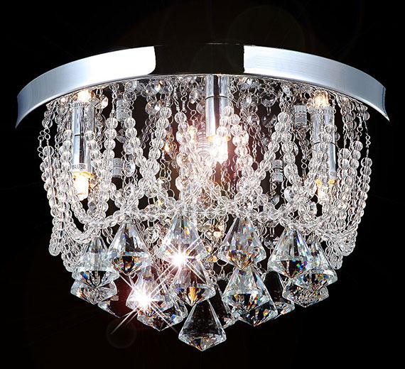 HA410  NAIDA-S LED Kristall Kronleuchter / Deckenleuchte  Ø 35cm