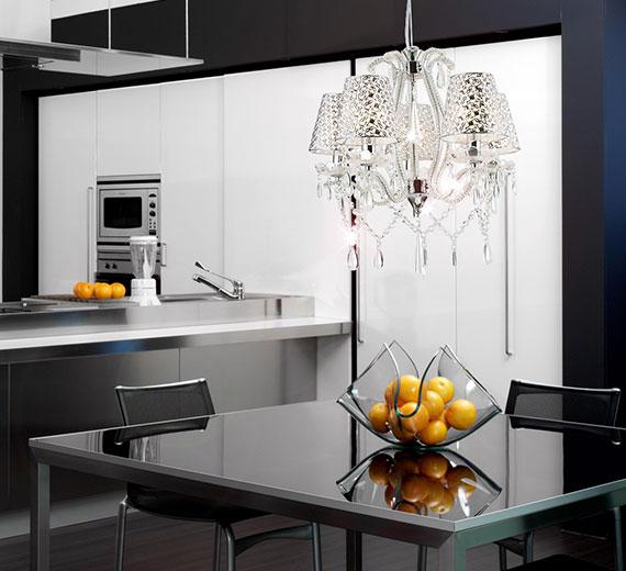 glas kristall kronleuchter deckenleuchte l ster lampenschirme wohnzimmer leuchte ebay. Black Bedroom Furniture Sets. Home Design Ideas