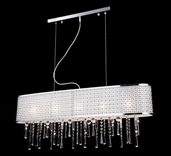 kristall deckenleuchte l ster pendelleuchte h ngeleuchte kronleuchter h ngelampe ebay. Black Bedroom Furniture Sets. Home Design Ideas