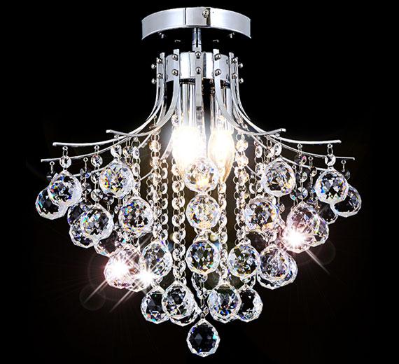 kristall kronleuchter deckenleuchte l ster decken beleuchtung deckenlampe 30 40 ebay. Black Bedroom Furniture Sets. Home Design Ideas